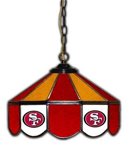 "San Francisco 49ers 14"" Glass Pub Lamp"