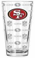 San Francisco 49ers 16 oz. Sandblasted Pint Glass