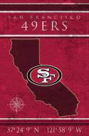 "San Francisco 49ers 17"" x 26"" Coordinates Sign"