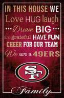 "San Francisco 49ers 17"" x 26"" In This House Sign"