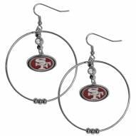"""San Francisco 49ers 2"""" Hoop Earrings"""