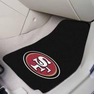 San Francisco 49ers 2-Piece Carpet Car Mats