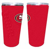 San Francisco 49ers 20 oz. Stainless Steel Tumbler with Silicone Wrap