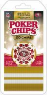 San Francisco 49ers 20 Piece Poker Chips Set