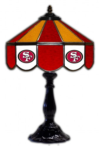"San Francisco 49ers 21"" Glass Table Lamp"