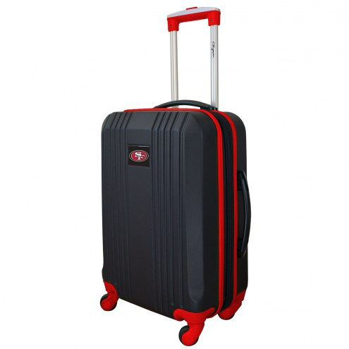"""San Francisco 49ers 21"""" Hardcase Luggage Carry-on Spinner"""