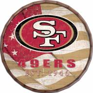 "San Francisco 49ers 24"" Flag Barrel Top"
