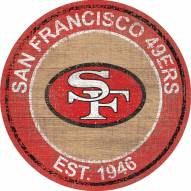 "San Francisco 49ers 24"" Heritage Logo Round Sign"