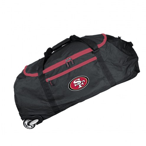 """San Francisco 49ers 36"""" Checked-in Wheeled Duffel"""