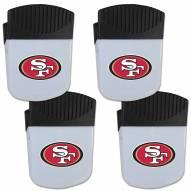 San Francisco 49ers 4 Pack Chip Clip Magnet with Bottle Opener