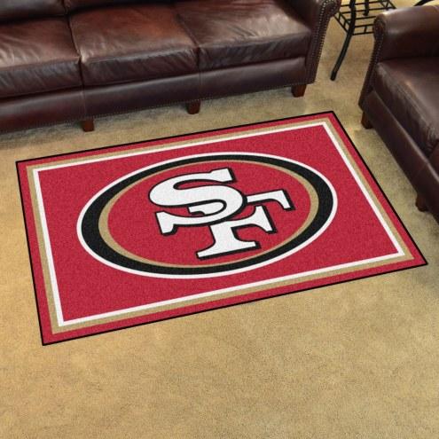 San Francisco 49ers 4' x 6' Area Rug
