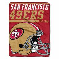 San Francisco 49ers 40 Yard Dash Blanket