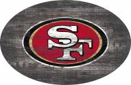 "San Francisco 49ers 46"" Distressed Wood Oval Sign"