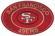 "San Francisco 49ers 46"" Heritage Logo Oval Sign"