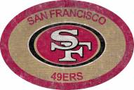 "San Francisco 49ers 46"" Team Color Oval Sign"