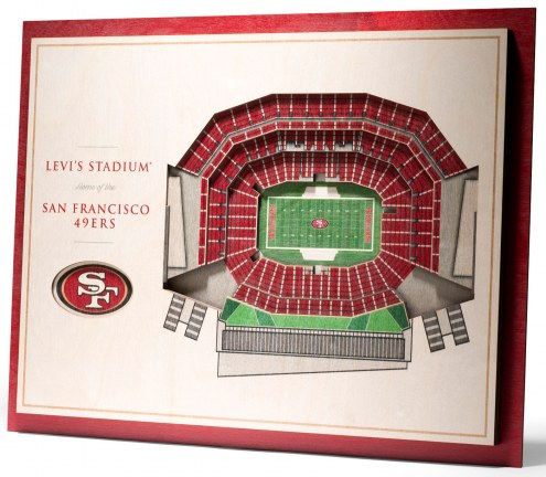 San Francisco 49ers 5-Layer StadiumViews 3D Wall Art