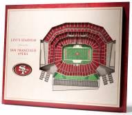 San Francisco 49ers 5-Layer StadiumViews 3D Wall Art