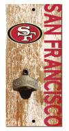 "San Francisco 49ers 6"" x 12"" Distressed Bottle Opener"
