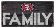 "San Francisco 49ers 6"" x 12"" Family Sign"
