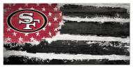 "San Francisco 49ers 6"" x 12"" Flag Sign"