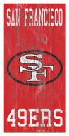 "San Francisco 49ers 6"" x 12"" Heritage Logo Sign"