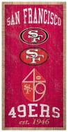 "San Francisco 49ers 6"" x 12"" Heritage Sign"
