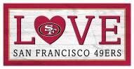 "San Francisco 49ers 6"" x 12"" Love Sign"