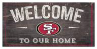 "San Francisco 49ers 6"" x 12"" Welcome Sign"