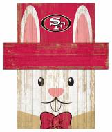 "San Francisco 49ers 6"" x 5"" Easter Bunny Head"