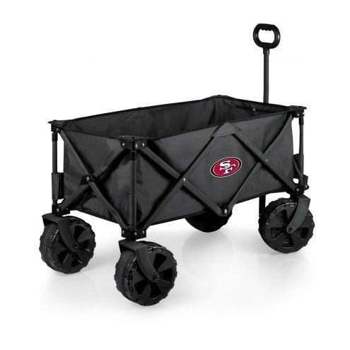 San Francisco 49ers Adventure Wagon with All-Terrain Wheels