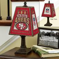 San Francisco 49ers Art Glass Table Lamp