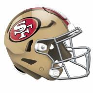 San Francisco 49ers Authentic Helmet Cutout Sign
