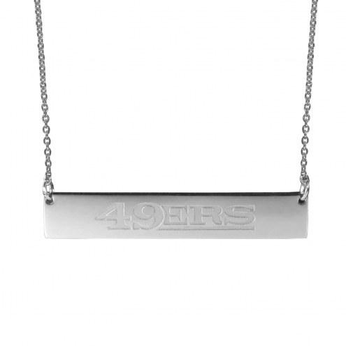 San Francisco 49ers Bar Necklace