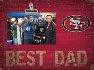 San Francisco 49ers Best Dad Clip Frame
