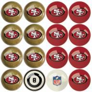 San Francisco 49ers Billiard Balls