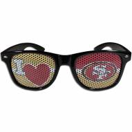 San Francisco 49ers Black I Heart Game Day Shades