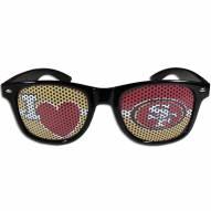 San Francisco 49ers Black I Heart Game Day Shades