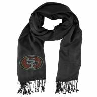 San Francisco 49ers Black Pashi Fan Scarf