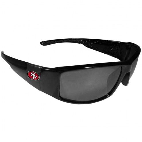 San Francisco 49ers Black Wrap Sunglasses