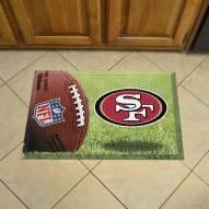 San Francisco 49ers Camo Scraper Door Mat