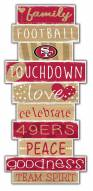 San Francisco 49ers Celebrations Stack Sign