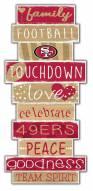 San Francisco 49ers Celebrations Stack Sign