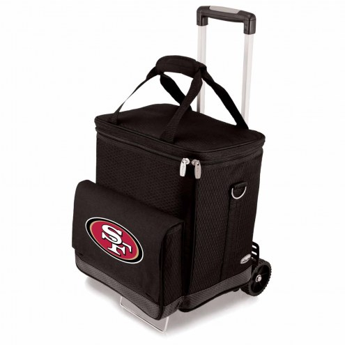San Francisco 49ers Cellar Cooler with Trolley