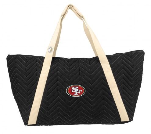 San Francisco 49ers Chevron Stitch Weekender Bag