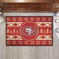 San Francisco 49ers Christmas Sweater Starter Rug
