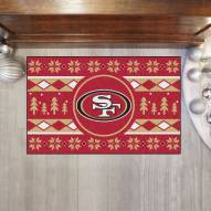 San Francisco 49ers Christmas Sweater Starter Rug