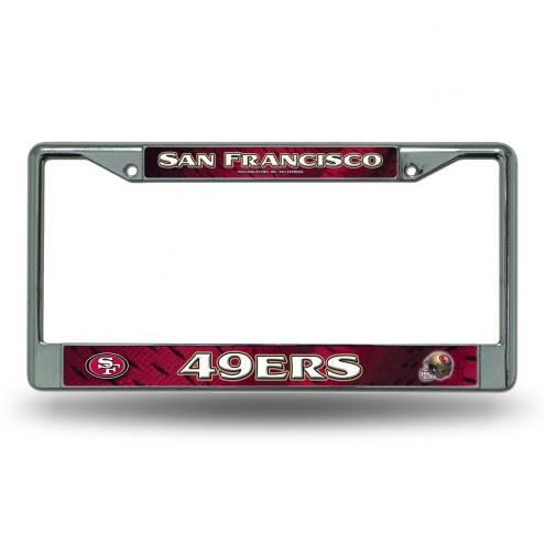 San Francisco 49ers Chrome License Plate Frame