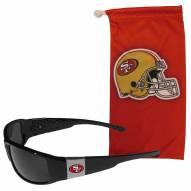 San Francisco 49ers Chrome Wrap Sunglasses & Bag