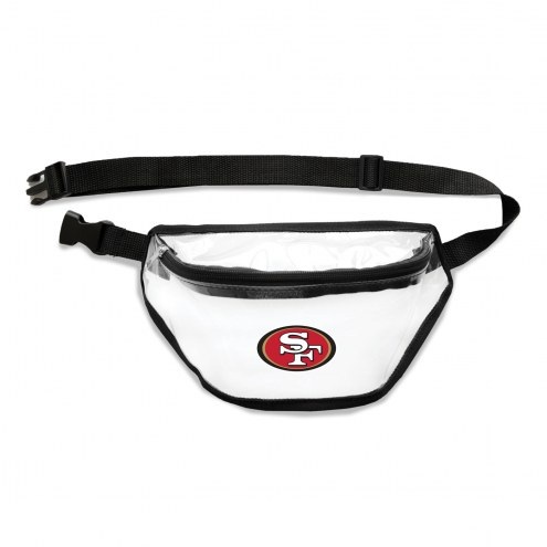 San Francisco 49ers Clear Fanny Pack