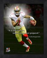 San Francisco 49ers Colin Kaepernick Framed Pro Quote